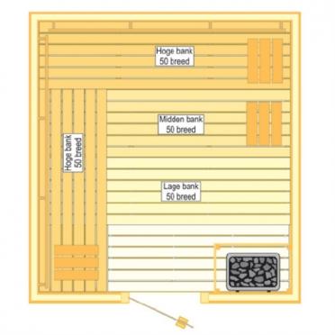 VSB Sauna Prestige (210x250x205)