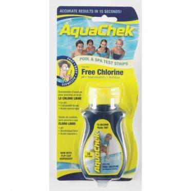 AquaChek teststrips vrij chloor test yellow 50 stuks