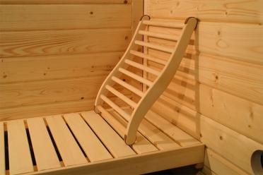 Karibu ergonomische sauna rugsteun