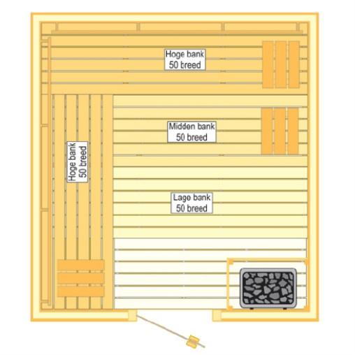 VSB Sauna Prestige (210x225x205)  VSBPRESTIGE210