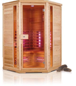 Nobel infrarood saunacabine hoek 130C hoekmodel  NOBEL130HOEK